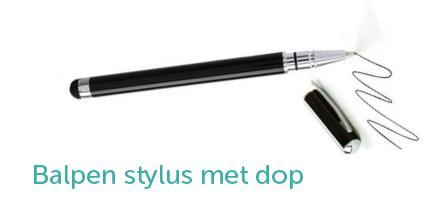 Balpen stylus met dop voor de iPad